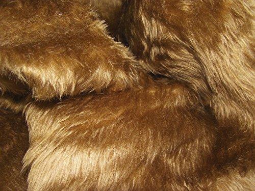 Uni Fun Kunstfell Stoff Material Antelope braun