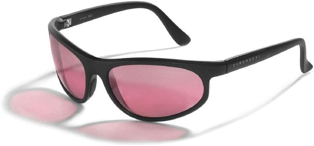 Serengeti Summit Shiny Black/Mineral Polarized Sedona Bi-Mirror Large Sunglasses Unisex-Adult, Matte Black/Mineral Drivers