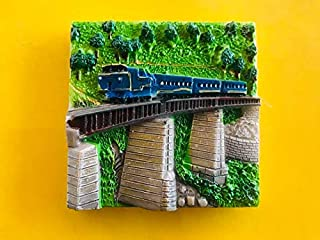 Amazing OOTY Toy Train Fridge Magnets Multi Colour 3D Embossed (A Pack of 1)