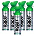 Boost Oxygen Supplemental Oxygen to Go | All-Natural Respiratory Support for Health, Wellness, Performance, Recovery and Altitude (10 Liter Canister, 5 Pack, Natural)