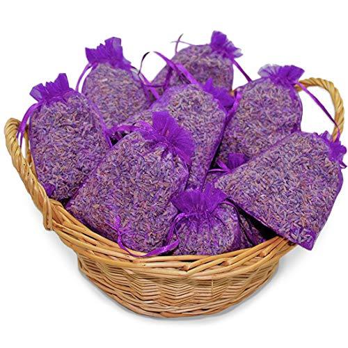 vom Achterhof 10 Lavendelsäckchen mit 200 g !!!! frischen französischem Lavendel Lavendelblüten der Provence in Lebensmittelqualität gefüllt ! Duftsäckchen