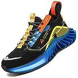 Mishansha Zapatillas de Fitness Hombre Transpirable Hombre Zapatos de Trail Running Atletismo Azul 39