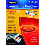 Fellowes 5306901 - Pack de 100 fundas de plastificar, formato 75 x 105 mm, acabado brillo, 125 micras