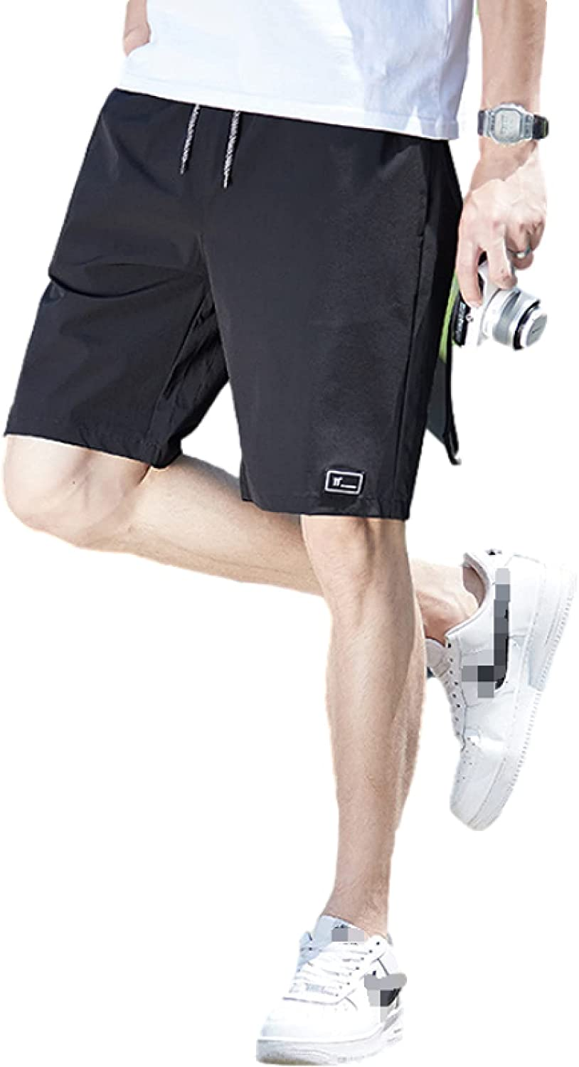 Men's Quick Dry Shorts Fashion Solid Color Trend All-Match Casual Comfortable