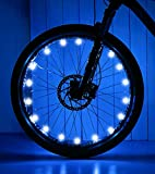 IGYLAR Rechargeable LED Bike Wheel Lights 2 Packs, Bright Color Bicycle Spoke Lights Suitable Gift for Kids, Adults, Friends and Family-Blue