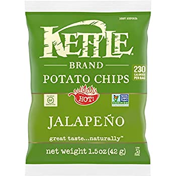 Kettle Brand Potato Chips Jalapeno Single-Serve 1.5 Ounce  Pack of 24