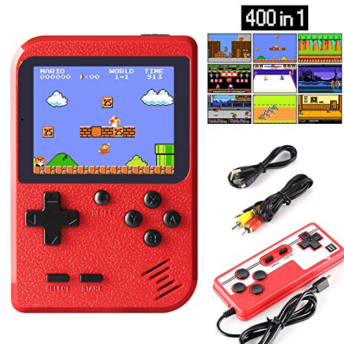 JAMSWALL Handheld Game Console, Retro Mini Game Player with 400 Classical FC...