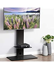 FITUEYES テレビスタンド 32~65インチ対応 壁寄せテレビスタンド 高さ調節可能 ラック回転可能 ブラック