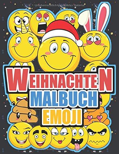 Weihnachten Malbuch Emoji: Party Favors für Familie oder Freunde Weihnachtsgeschenk für Erwachsene oder Kinder Super Fun Poop, Magical und Birthday Emoji Mit dem Wortsuchspiel