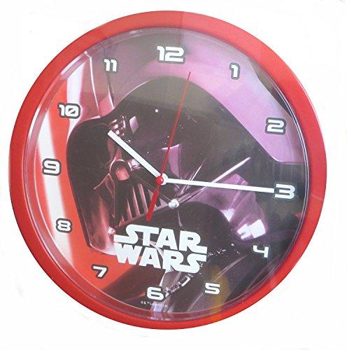 Star Wars SW14010 Darth Vader Wanduhr, 24 cm, rot