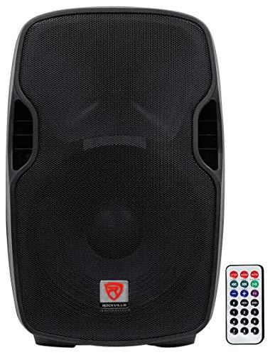 Rockville Professional Powered Active 800w DJ PA Speaker w Bluetooth, 15 inch (BPA15)