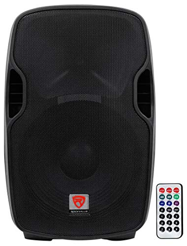 Rockville Professional Powered Active 800w DJ PA Speaker w Bluetooth, 15 inch (BPA15)