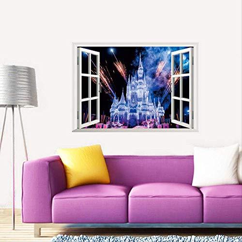 Wandaufkleber 3D Stereo Vinyl Kinderzimmer Graffiti Aufkleber Decke/Boden/Wanddekoration wasserdichte Kunst/Familie/Traumschloss