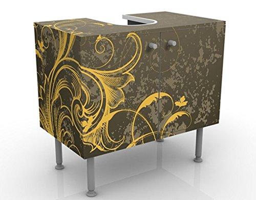 Apalis 53952 Waschbeckenunterschrank Schnörkel in Gold und Silber, 60 x 55 x 35 cm