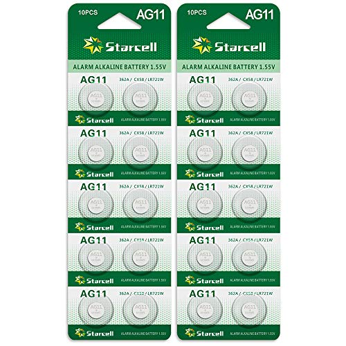 Act Alkaline Knopfzellen ohne Quecksilber AG11/LR58/LR721/362/1,5 Volt 20Pcs