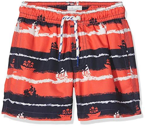 Sanetta Jungen Swim Trunks Woven Badeshorts, Rot (Coral 38067), 104