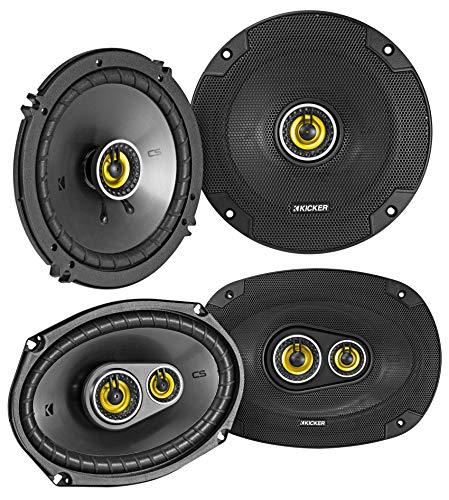 """Pair KICKER 46CSC6934 6x9 900 Watt+Pair 46CSC654 6.5"""" Car Audio Speakers"""