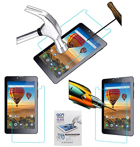 Acm Tempered Glass Screenguard Compatible with Iball Dazzle 3500 Tablet