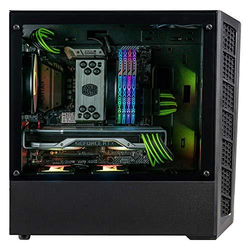 Cooler Master MasterBox MB320L ARGB Micro-ATX mit Dual-ARGB-Lüftern, DarkMirror Frontblende, Mesh Fronteinlassöffnungen, gehärtetes Glas Seitenteil und ARGB Beleuchtungssystem