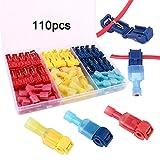 FULARR 110Pcs (55 Pairs) Premium T-Tap Cable Conectores...