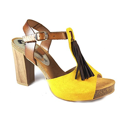 Sandalias OH!! Isabella 7710 Ocre - Color - Amarillo, Talla - 39