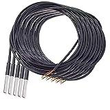 AZDelivery 5 x 3M Kabel DS18B20 digitaler Edelstahl Temperatursensor Temperaturfühler, wasserdicht für Arduino und Raspberry Pi inklusive E-Book!