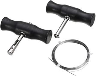 zunbo Set mit 3 Werkzeugen zum Entfernen von Windschutzscheiben, Werkzeug für die Demontage von Windschutzscheibe, mit Seil, Glasschneidedraht für Windschutzscheibe mit Griffen, Schwarz