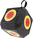 Cubeta de espuma de poliuretano con arco 3D de 6 flechas, gran diana con tecnología de polifusión, para deportes de tiro con arco curvado