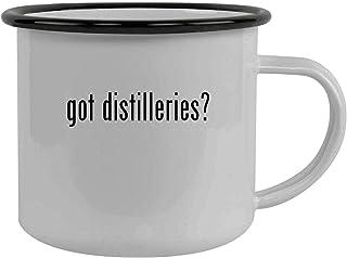 got distilleries? - Stainless Steel 12oz Camping Mug, Black