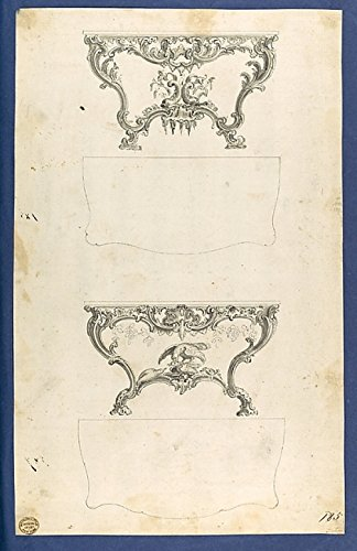 The Poster Corp Thomas Chippendale – Sideboard Tables in Chippendale Drawings Vol. I Kunstdruck (45,72 x 60,96 cm)