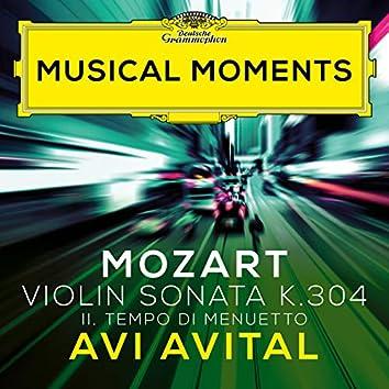 Mozart: Violin Sonata No. 21 in E Minor, K. 304: II. Tempo di Menuetto (Transcr. Avital for Mandolin and Piano) (Musical Moments)