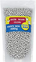 HAPPY MAG (400g) マグネシウム 粒 ペレット 高純度 99.95% 洗濯 部屋干し 臭い 消臭 除菌 水素水 水素浴 風呂 掃除 DIY 5mm