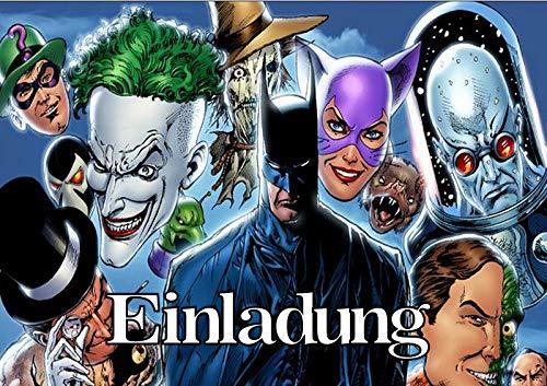 TV-24 Batman Einladungskarten 12er Set inkl. 12 Umschläge T3