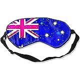 Sleeping Mask,Bandera De Australia Bandera Estrellada Máscaras Divertidas De Impresión Para El Trabajo De Turno De Vuelo A Casa