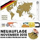#benehacks -NEUAUFLAGE November 2018- Weltkarte zum Rubbeln