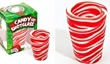 Peppermint Flavored Candy Cane Edible Shot Glass (New Year Celebration Candy Shot Glasses New Years (Includes 3 Shot Glasses)