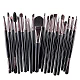 Doyeemei Set de pinceles de maquillaje 20 piezas Premium Colorful Foundation Blending Blush Eye Face Brush Powder Cosmetics Makeup Brushes Kit Cerdas sintéticas Style 04
