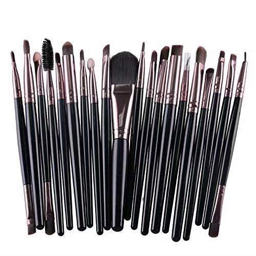 Doyeemei cosmétiques Kit de brosses de maquillage base colorée prime mélange Blush Blush poudre visage yeux soies synthétiques Pinceaux de maquillage mis 20 pièces Style 04