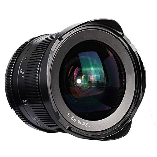 Oumij Lente Fija Manual Gran Angular F2.8 APS-C de 12 mm 7artisans 102 Grados de Gran Angular Adecuada para Paisaje, Arquitectura, Viajes, Cielo Estrellado, Retrato(para Canon EOS-M Mount)