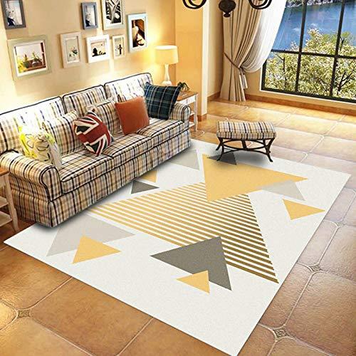 Michance Nordischer Einfacher Geometrischer Rechteckiger Bedruckter Teppich Rutschfester Verdickter Couchtisch Sofamatte Schlafzimmer Wohnzimmer Bed & Breakfast Party Teppich