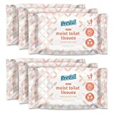 Marca Amazon - Presto! Papel higiénico húmedo y suave, sin fragancia, apto para verter al inodoro, paquete de 240 (40 pañuelos x 6 paquetes)
