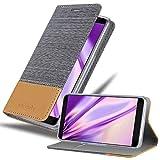 Cadorabo Hülle für ZTE Blade V9 in HELL GRAU BRAUN - Handyhülle mit Magnetverschluss, Standfunktion & Kartenfach - Hülle Cover Schutzhülle Etui Tasche Book Klapp Style