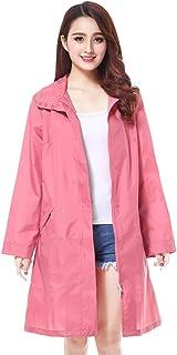 PENGFEI レインコート ポンチョ 防水 ウインドブレーカー 通気性のある ツーリストトレッキング ファッション 耐摩耗性、 3色 (色 : Pink, サイズ さいず : M)