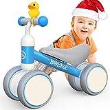 Itslife Kinder Laufrad ab 1 Jahr Fahrrad Spielzeug für 10-24 Monate Baby Lauflernrad ohne Pedale mit 4 Räder für Jungen Mädchen als Geschenke für 1 Jahr Alt- Blau