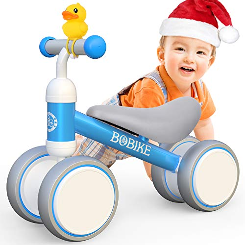 Bicicletta Senza Pedali Giochi Bambini 1-2 Anno Bambino Bimba triciclo Bici Senza Pedali Giocattoli Regali Primi passi GiocattoliMonopattino per Bambina 12-18 Mesi- Blu