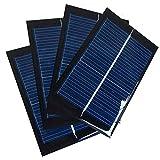 NUZAMAS Set di 4 Pezzi 6V 100mA 90X60mm Micro Mini Pannelli solari a Pannello per energia Solare di energia, Home DIY, progetti di Scienza - Giocattoli - Caricabatterie