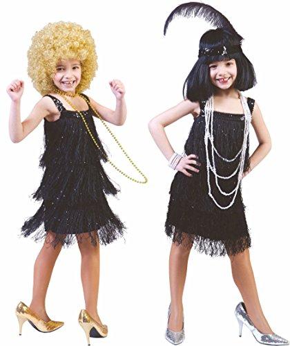 Déguisement robe charleston noire enfant--10 à 12 ans