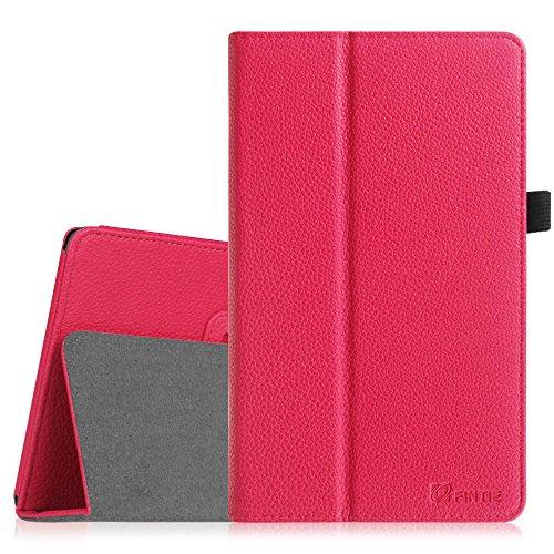 Fintie Asus ME181CX Folio Hülle Case - Slim Fit Schutzhülle Cover Tasche Etui für Asus ME181CX ProSieben Entertainment Pad 20,3 cm(8 Zoll) Tablet-PC (Asus MeMO Pad 8 ME181C), Magenta