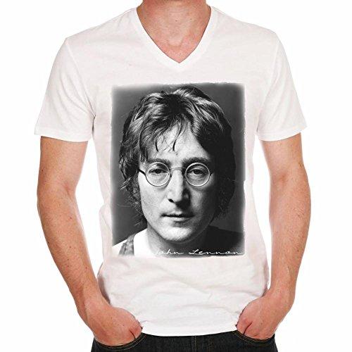 John Lennon Revolution Men Herren T-shirt - Weiß, XL, t shirt herren,Geschenk