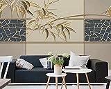 Papel Pintado 3D Hermosas Líneas De Bambú En Relieve 3D Dormitorio Decorativos Murales Moderna Diseno 300x210cm